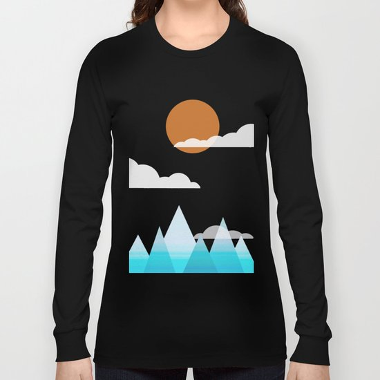 Sun, Clouds and Mountains Long Sleeve T-shirt