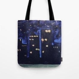 Haute Blue Night Tote Bag