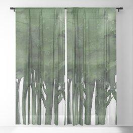 Tree Impressions No.1C by Kathy Morton Stanion Sheer Curtain