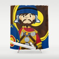 soldier Shower Curtains featuring Roman Soldier by markmurphycreative