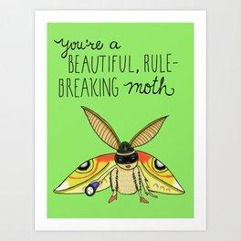 Leslie Knope Compliments: Rule-Breaking Moth Art Print