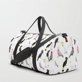 Australian cockatoos pattern Duffle Bag