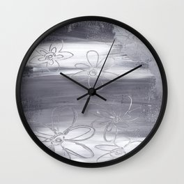 Flowers in the Fog Wall Clock
