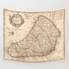 Island of Barbadoes Map (1752) Wall Tapestry