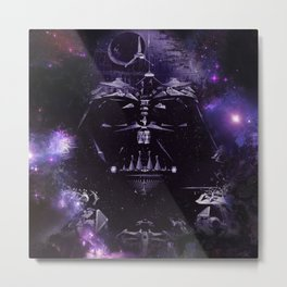 DARTH VADER ILLUSION SAPCE Metal Print