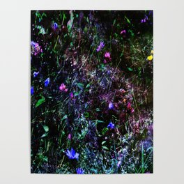 Galaxy Flowers Poster