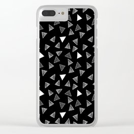 Geo Triangles Clear iPhone Case