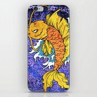 koi fish iPhone & iPod Skins featuring Koi Fish by Spooky Dooky