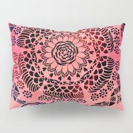 Pink Galaxy Mandala Pillow Sham