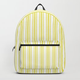 Trendy Large Highlighter Yellow Pastel Highlighter French Mattress Ticking Double Stripes Backpack