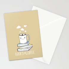 Books + Coffee Stationery Cards