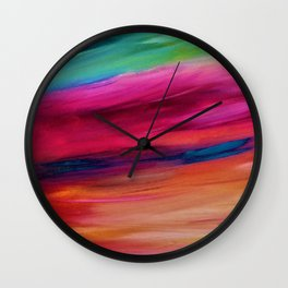 ROSY SKY - Abstract Sky Oil Painting Wall Clock