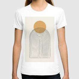 Gold Sun rainbow mountain T-shirt