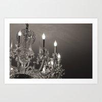 chandelier Art Prints featuring Chandelier  by Nicole Webb