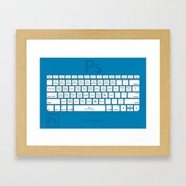 Photoshop Keyboard Shortcuts Blue Tool Names Framed Art Print