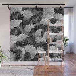 Hydrangea Haven Noir Wall Mural