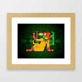 Yaxchilan - Maya Tiger Framed Art Print