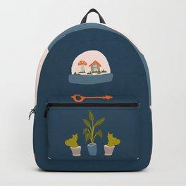 Minimalist Teenage Bedroom Blue Flash Sheet Backpack