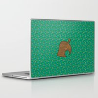 animal crossing Laptop & iPad Skins featuring Animal Crossing Summer Grass by Rebekhaart