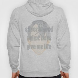 Silver Hair Anime Boys Hoody