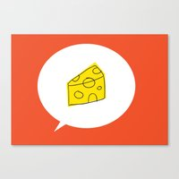 cheese Canvas Prints featuring cheese by ariel kotzer