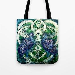 Celtic Peacocks Tote Bag