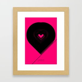CRYPTIC HIPSTER HEART. Framed Art Print