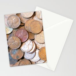 Watercolor Coins, Lincoln Wheat Pennies, 1939 03 Stationery Cards