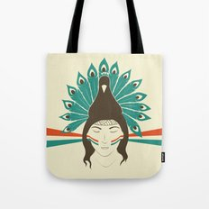 The princess and the peacock Tote Bag