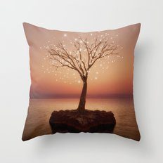The Strong Grows In Solitude (Tree of Solitude) Throw Pillow