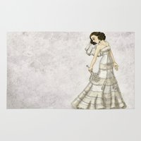 bride Area & Throw Rugs featuring Lace Bride by Thedustyphoenix