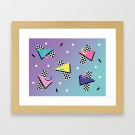 Memphis pattern 59 - 80s / 90s Retro Framed Art Print