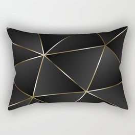 Triangles with golden threads Rectangular Pillow