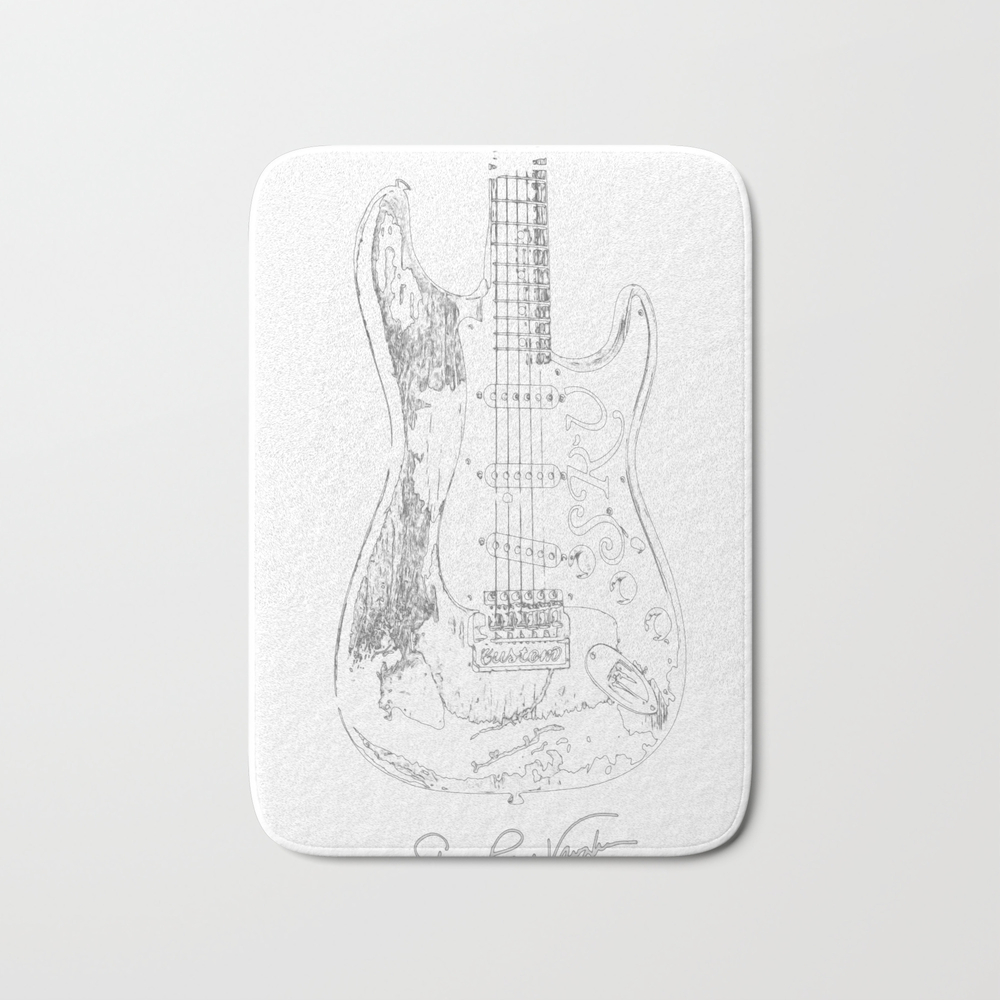 Stevie Ray Vaughan - Guitar-blues-rock-legend Bath Mat by Skydes BMT8904524