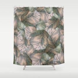 Heathered Grey Intertwine Shower Curtain