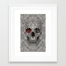 Lace Skull 2 Framed Art Print
