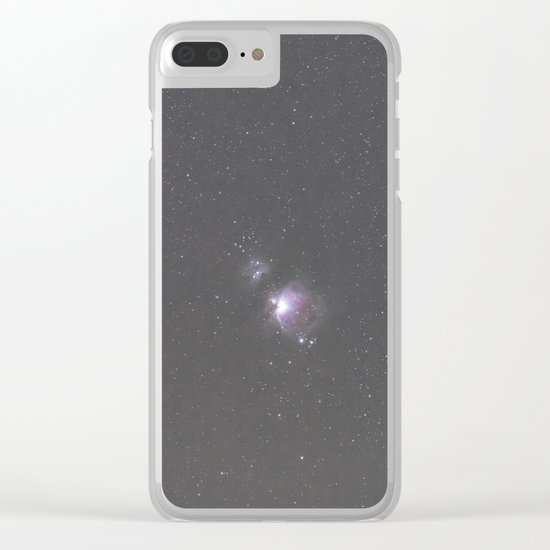 Orion Running Man flame and Horsehead Nebula's Clear iPhone Case