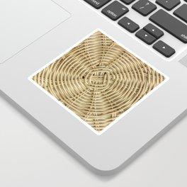 Rattan wickerwork texture Sticker