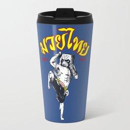 Pug Muay Thai Travel Mug