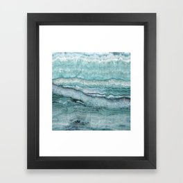 Mystic Stone Aqua Teal Framed Art Print