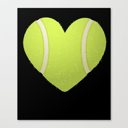 Love Heart Tennis design Valentine's Day Gift Tennis Players Canvas Print