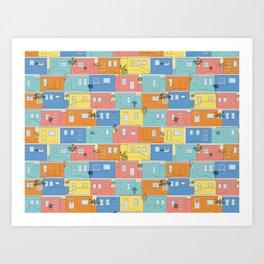Pastel Bo-Kaap Art Print