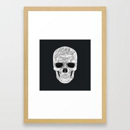 Organic White Skull 01 Framed Art Print