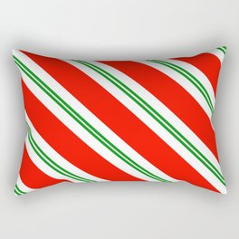 Candy Cane Stripes Holiday Pattern Rectangular Pillow