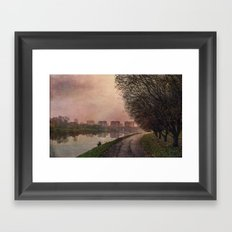 Fisherman (stylized watercolor) Framed Art Print