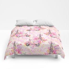 Fashion and Paris #3 Comforters