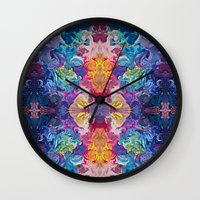 notebook Wall Clocks featuring Guardian's Notebook by Tanya Shatseva
