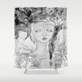 BW Lost Shower Curtain