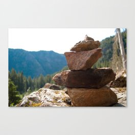 Olympic Cairn Canvas Print