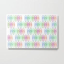 Paper Clips Pattern Metal Print